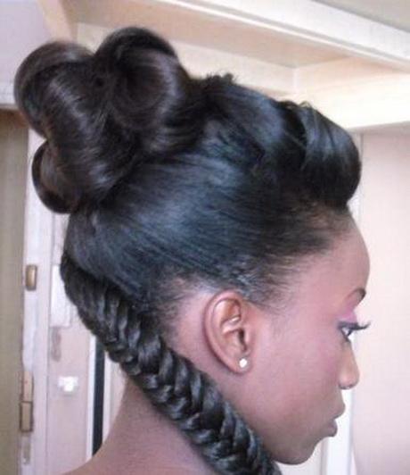 Chignon africain pour mariage for Salon de coiffure africain lyon