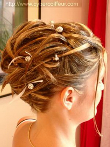 Chignon cheveux court mariage