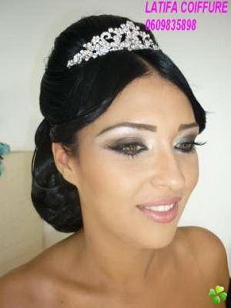 Chignon mariage libanais