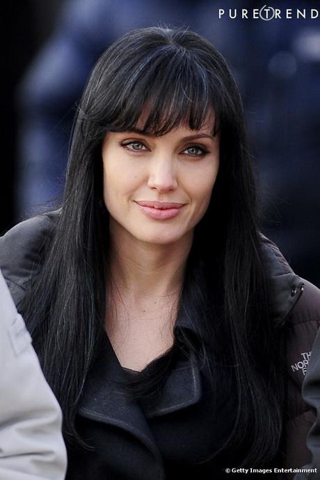 Coiffure cheveux long noir