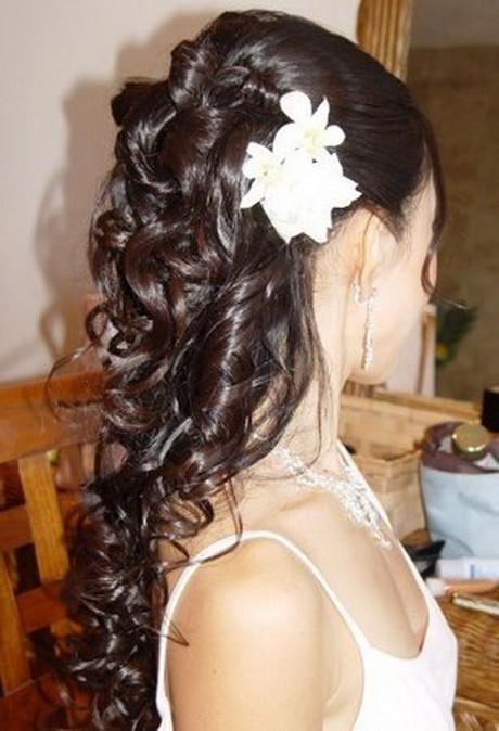 Coiffure mariee cheveux longs detaches for Imagenes semirecogidos