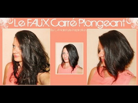 Coupe de cheveux carr long plongeant - Carre plongeant tres long ...
