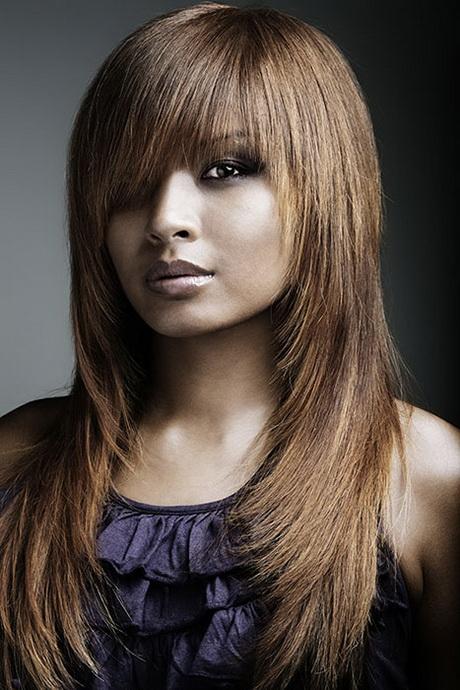 Style de coiffure femme cheveux long