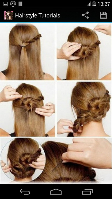 Easy hairstyle for gown dress medium hair