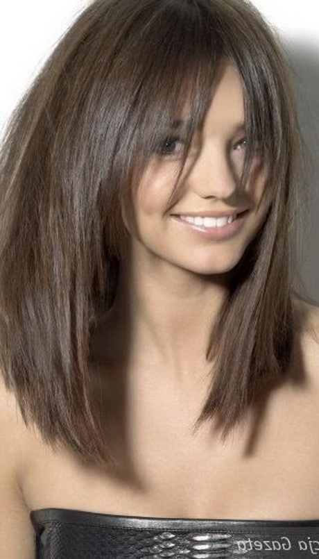 Coupe visage long auto design tech - Coup de cheveux mi long ...