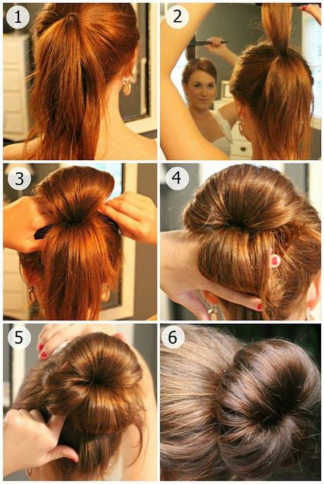 Modele de coiffure chignon