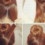 Cheveux long coiffure simple