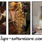 Coiffure mariage avec extension