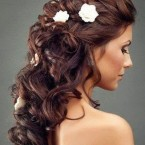 Coiffure mariage cheveux longs boucles