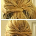 Coiffure simple cheveux long