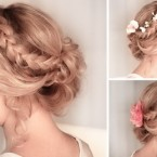 Coiffures mariage cheveux mi long