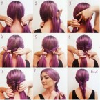 Coiffures simples cheveux longs