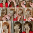 Tuto coiffure cheveux long simple