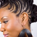 Coiffure natte africaine