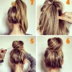 Modele de chignon simple