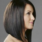 Coupe cheveux carré long plongeant