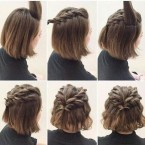 Chignon simple cheveux court