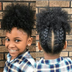 Coiffure afro fille