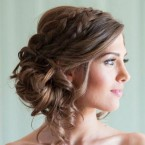 Coiffure femme mariage mi long