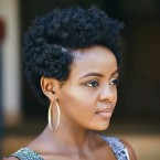 Coupe cheveux afro court femme