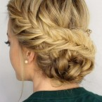Chignon soiree photo