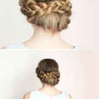 Chignon cheveux tres long