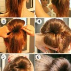 Chignon haut simple