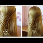 Chignon tressé simple