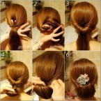 Coiffure chignon simple etapes