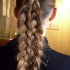 Coiffure fausse tresse
