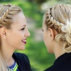 Photo chignon avec tresse