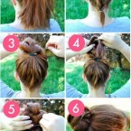 Un chignon simple et rapide