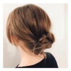 Chignon cheveux long raide