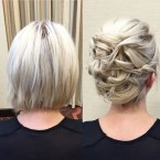 Chignon coupe carré