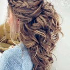 Coiffure mariee boucle