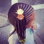 Modele tresse africaine pour petite fille