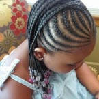 Photo tresse africaine petite fille