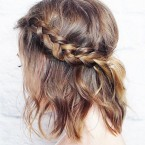 Tresse anglaise cheveux