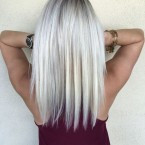 Cheveux mi long gris