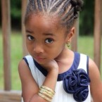 Tresse africaine petite fille cheveux court