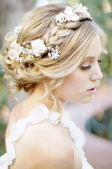 Coiffure mariage natte