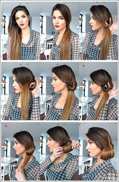 Chignon banane technique
