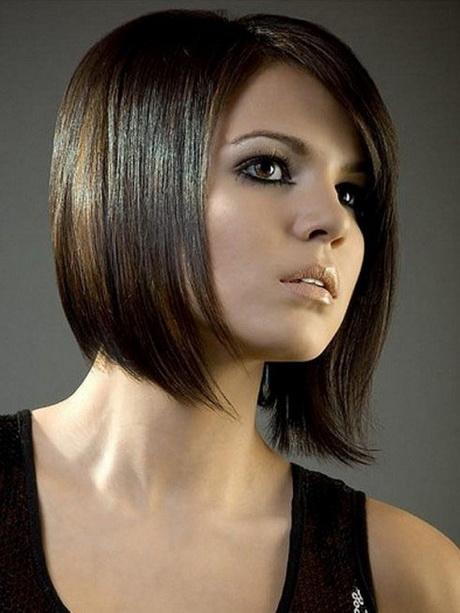 Modèle de coiffure carré plongeant dégradé
