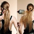 Coiffure cheveux long simple