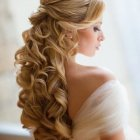 Coiffures mariage cheveux longs