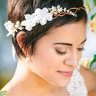 Coiffure mariage cheveux courts 2016