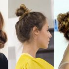 Chignon cheveu mi long