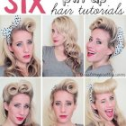 Coiffure pin up cheveux long